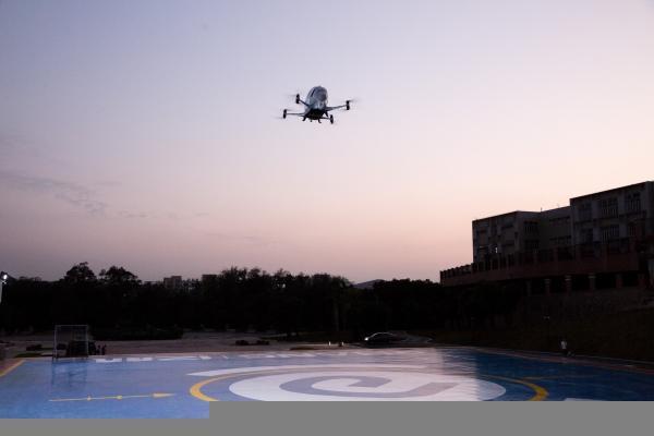 В Китае успешно протестировали пассажирский дрон