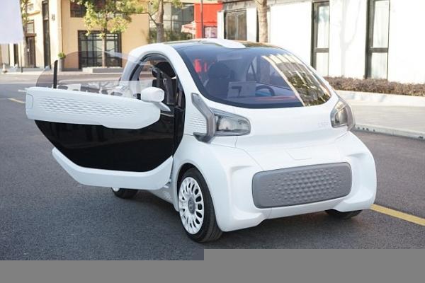 В Шанхае продемонстрировали электромобиль, напечатанный на 3D-принтере