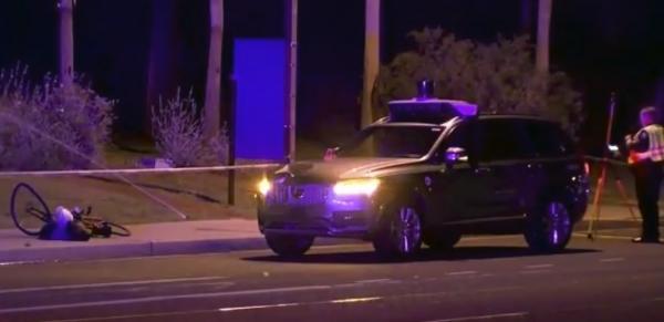 Полиция опубликовала видео из салона беспилотного автомобиля Uber