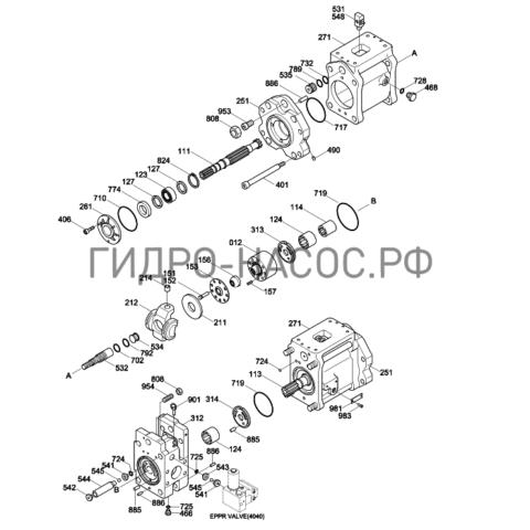 Запчасти насоса Hyundai R370LC-7