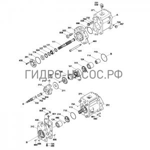 Запчасти насоса Hyundai R160LC-3