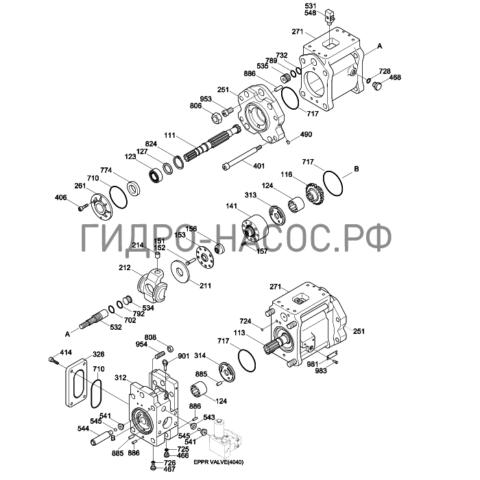 Запчасти насоса Hyundai R305LC-7