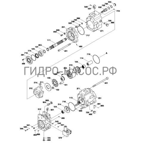 Запчасти насоса Hyundai R520LC-9S