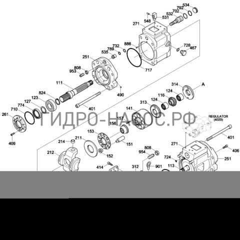 Запчасти насоса Hyundai R170W-7